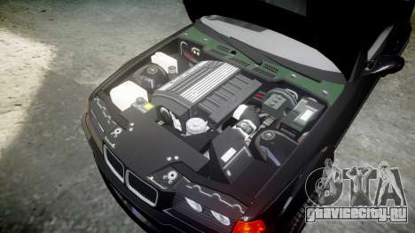 BMW E36 M3 Duck Edition для GTA 4 вид изнутри
