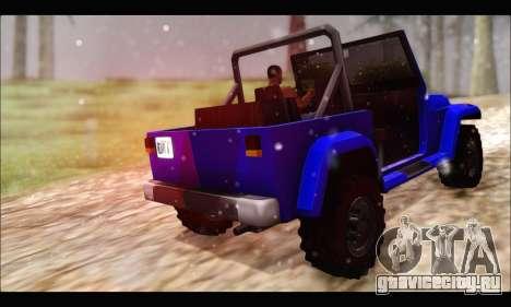 Mesa Off-Road для GTA San Andreas вид сзади слева