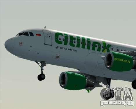Airbus A320-200 Citilink для GTA San Andreas вид снизу