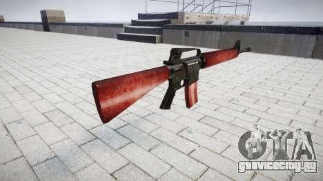Винтовка M16A2 red для GTA 4 второй скриншот