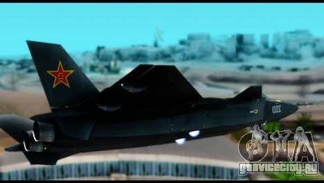 Chenyang J-20 BF4 для GTA San Andreas вид сзади слева