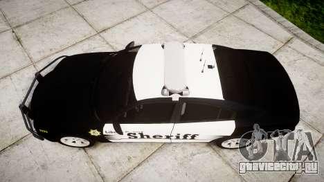 Dodge Charger 2013 County Sheriff [ELS] v3.2 для GTA 4 вид справа