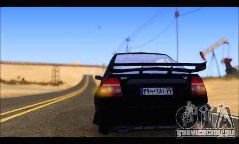 Kia Pride 141 Tuning для GTA San Andreas вид сзади слева