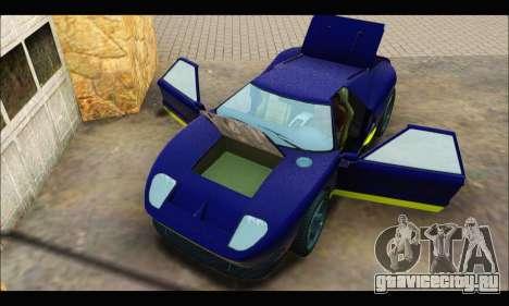 Vapid Bullet Gt (GTA IV) (LC Plate) для GTA San Andreas вид сзади