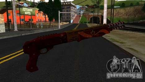 Новогодний Боевой Дробовик для GTA San Andreas второй скриншот