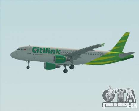 Airbus A320-200 Citilink для GTA San Andreas вид сверху