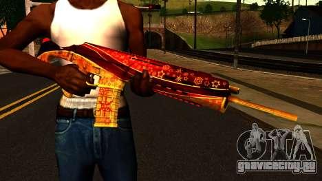 Новогодняя Штурмовая Винтовка для GTA San Andreas третий скриншот