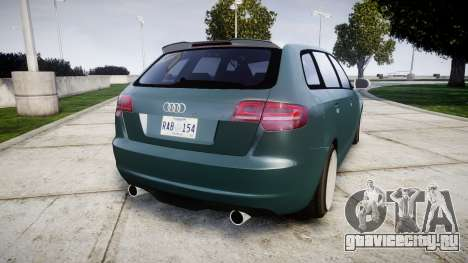 Audi RS3 Stanced для GTA 4 вид сзади слева
