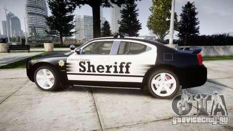 Dodge Charger SRT8 2010 Sheriff [ELS] rambar для GTA 4 вид слева