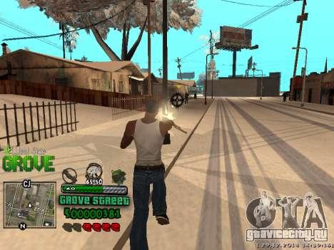 C-HUD Grove Street для GTA San Andreas десятый скриншот