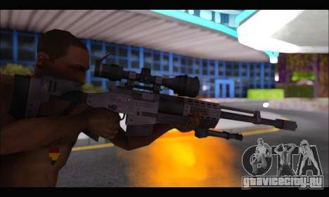 Raab KM50 Sniper Rifle From F.E.A.R. 2 для GTA San Andreas пятый скриншот