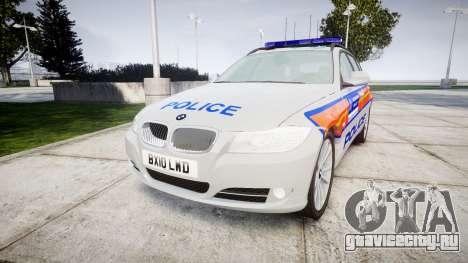 BMW 325d E91 2010 Metropolitan Police [ELS] для GTA 4