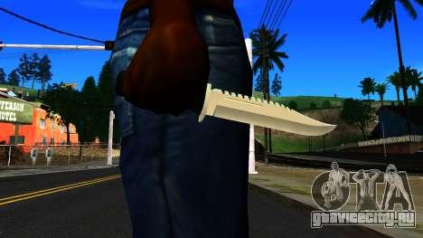 Knife from GTA 4 для GTA San Andreas третий скриншот