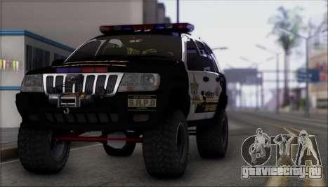 Jeep Grand Cherokee 1999 Sheriff для GTA San Andreas вид справа