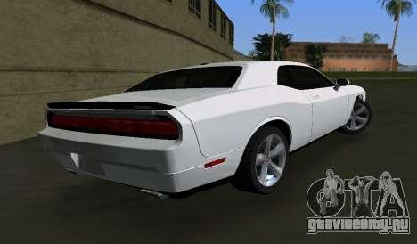 Dodge Challenger SRT для GTA Vice City вид сзади слева