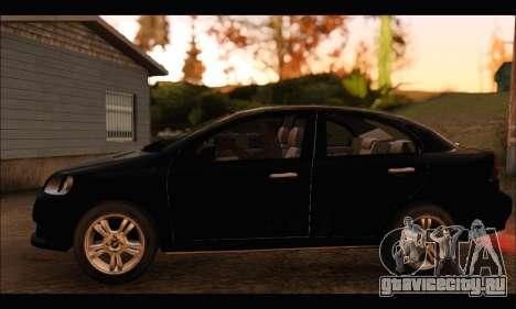 Chevrolet Aveo LT 2010 для GTA San Andreas вид сзади слева