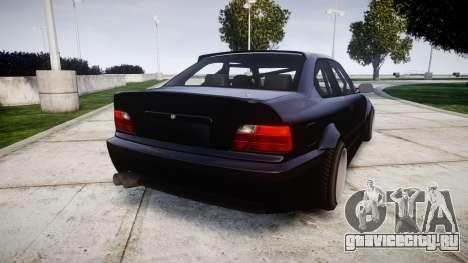 BMW E36 M3 Duck Edition для GTA 4 вид сзади слева