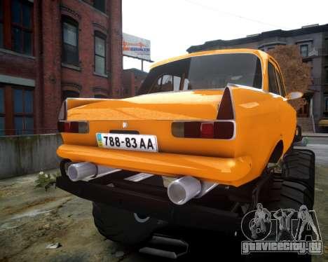 Москвич 412 Монстер для GTA 4 вид сзади