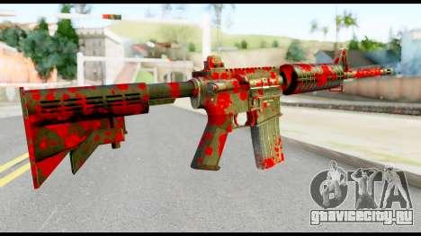 M4 with Blood для GTA San Andreas второй скриншот