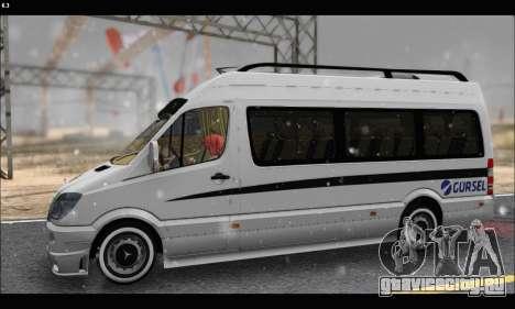 Mercedes Benz Sprinter Okul Tasiti V2 для GTA San Andreas вид слева