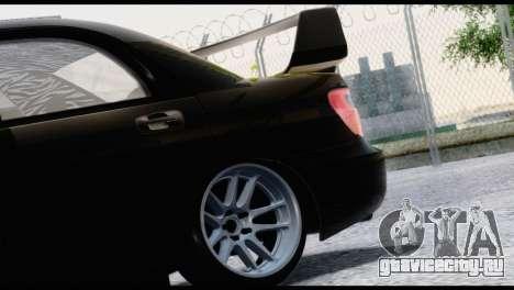 Subaru Impreza Hellaflush 2004 для GTA San Andreas вид сзади