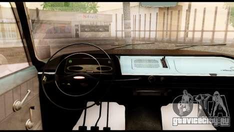 Москвич 408 для GTA San Andreas вид сзади