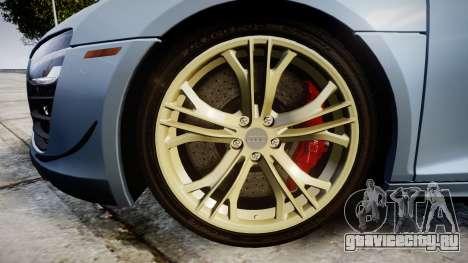 Audi R8 competition 2015 [EPM] для GTA 4 вид сзади
