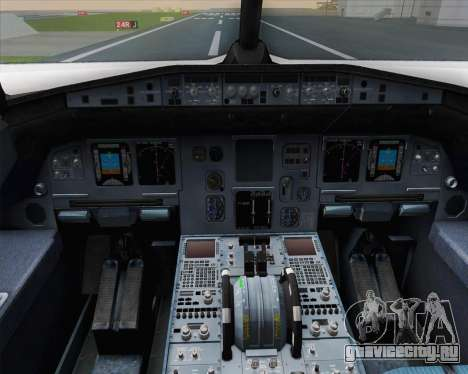 Airbus A320-200 Air France Skyteam Livery для GTA San Andreas салон
