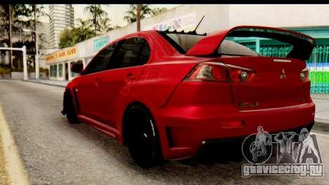 Mitsubishi Lancer Evolution FQ-400 V2 для GTA San Andreas