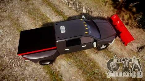 Dodge Ram 3500 Plow Truck [ELS] для GTA 4 вид справа