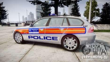 BMW 325d E91 2010 Metropolitan Police [ELS] для GTA 4 вид слева