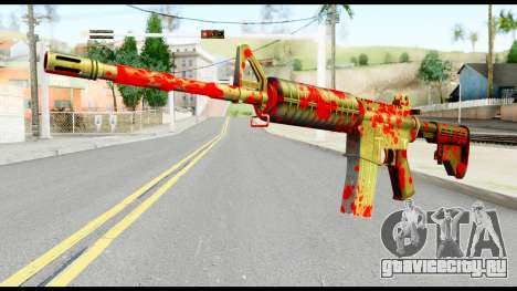 M4 with Blood для GTA San Andreas