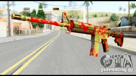 M4 with Blood для GTA San Andreas