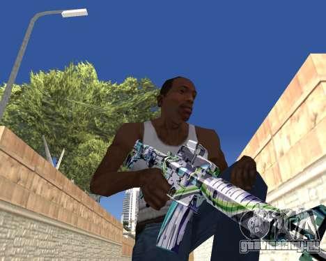 Graffity weapons для GTA San Andreas восьмой скриншот