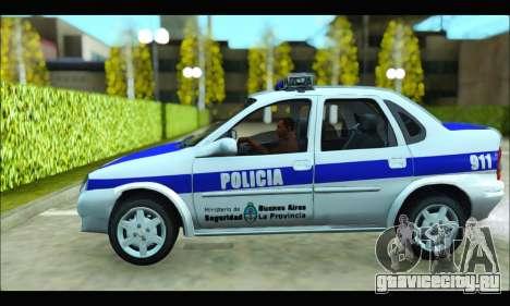 Chevrolet Corsa Policia Bonaerense для GTA San Andreas вид слева