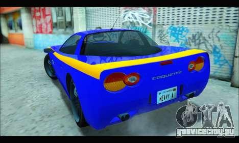 Coquette (GTA IV) для GTA San Andreas вид сзади слева