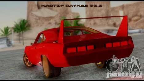 Dodge Charger Daytona для GTA San Andreas вид слева