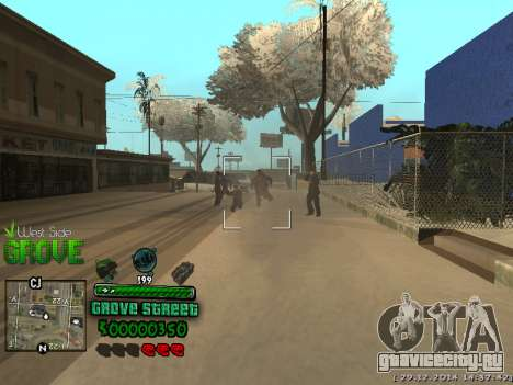C-HUD Grove Street для GTA San Andreas шестой скриншот