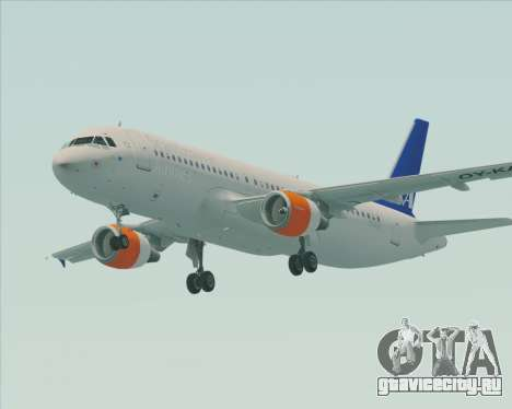 Airbus A320-200 Scandinavian Airlines - SAS для GTA San Andreas вид слева
