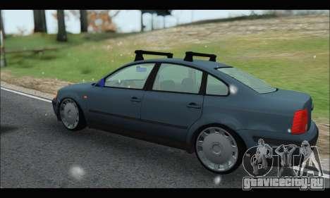 VW Passat для GTA San Andreas вид сзади слева