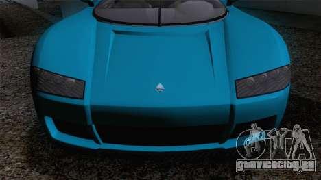 GTA V Overflod Entity XF v.2 для GTA San Andreas вид сзади слева