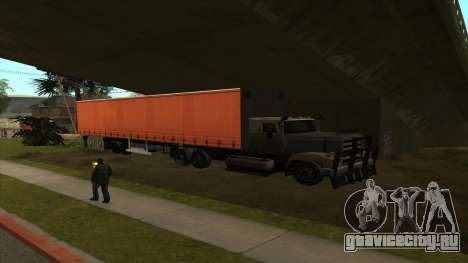 Перевозка танка в трейлере для GTA San Andreas третий скриншот
