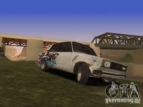 ВАЗ 2105 Ржавое корыто для GTA San Andreas вид сбоку