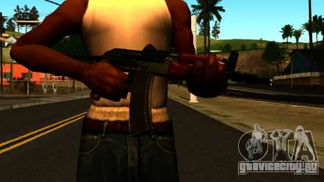 Тёмный АКС-74У v1 для GTA San Andreas третий скриншот