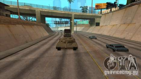 Перевозка танка в трейлере для GTA San Andreas