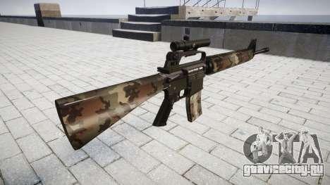 Винтовка M16A2 [optical] erdl для GTA 4 второй скриншот