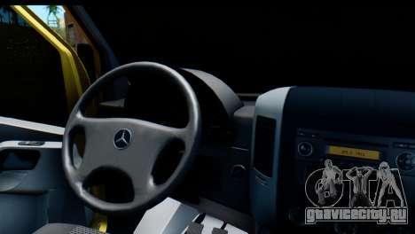 Mercedes-Benz Sprinter Инкассация России для GTA San Andreas вид справа