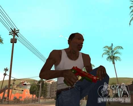 Новогодний weapon pack v2 для GTA San Andreas шестой скриншот