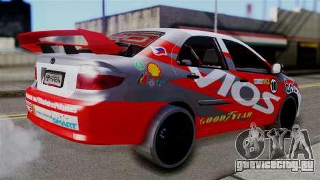Toyota Vios TRD Racing v2 для GTA San Andreas вид слева