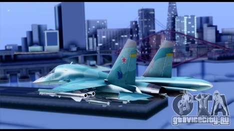 SU-34 Fullback для GTA San Andreas вид слева